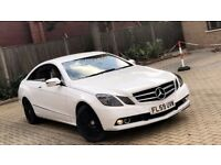 2009 MERCEDES BENZ E350 E CLASS 3.0 CDI COUPE DIESEL AUTOMATIC WHITE MOT GOOD DRIVE NOT 3 6 SERIES C