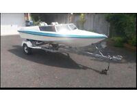 13.5ft dart speed boat 50hp Yamaha power trim n tilt