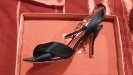Ladies teal satin shoes from Faith size 6