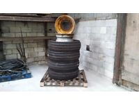 Four genuine JCB front tyres for two wheel drive models £175.00