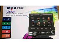 Car radio bluetooth flip screen