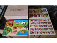 Baby jigsaw learning aid