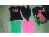 Lot of choice of clothes tops trousers jackets