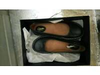 Black leather clarks shoes brand new size 4