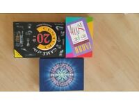 Three Board Games , Who wants to be a Millionaire , Game of the 20th Century,Taboo