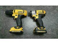 DeWalt 10.8v DCF815 & DCD710 impact drill & driver set