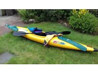Pyranha canoe & equipment all ready for summer fun.