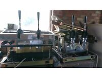 Commercial hand pulled coffee machines (two) - needs refurbishment.