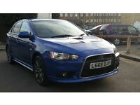MITSUBISHI LANCER RALLIART 2.0T GSR AUTO 2009 59 REG BLUE / LEATHER NAV A/C 93K FSH - 07826 336 398