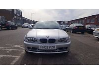 2002 BMW 318Ci **SPARE & REPAIR**STARTS & DRIVES**SLIGHT MISFIRE**LOW MILEAGE 77K**FULL LEATHER INT