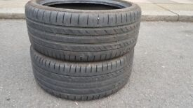 Continental 18 inch Tyres, 2 for £100 - good condition - NON NEGOTIABLE!!!