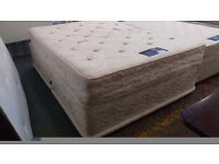 Silentnight miracoil kingsize mattress and divan base with drawers