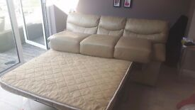Two Seater Leather Sofa Bed