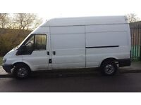 LWB high roof Ford Transit . Good engine and reliable. Gasket completely gone. Can help with towing