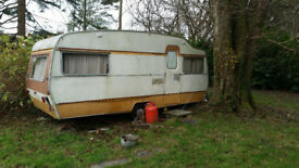 1960's Touring Caravan, 18 feet length, towable, wired for domestic elecrticity