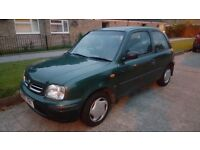 NISSAN MICRA AUTOMATIC 1.0 ltr. VERY ECONOMICAL , CHEAP ROAD TAX , BARGAIN ....£395 ono