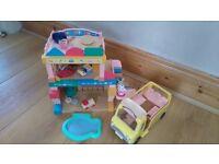 Sylvanian families primrose nursery and bus
