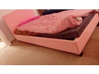 Feaux leather pink single beds