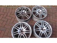 Audi vw rs4 alloy wheels 18 inch pcd 5x112