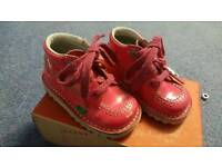 Pink Kickers infant size 5