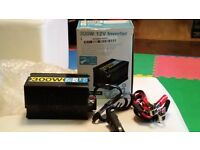 300W Watt DC 12V to AC 230V + USB Portable Voltage Transformer Car Power Inverter