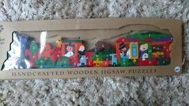 Alphabet jigsaw train new