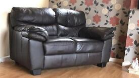 Leather sofa/suite 3 seater + 2 seater