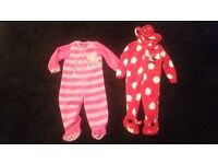 Girls sleep suits 1-2 year old