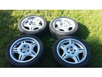 "BMW M3 MOTORSPORT WHEELS AND TYRES 17"" RARE"