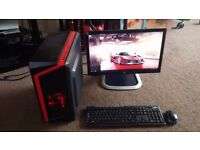 £239 for Complete Gaming PC, i3 3.10Ghz, 4GB RAM, Radeon HD 6450, 22inch LED Screen, NEW Gaming Case