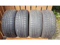 Full set of Goodyear Wrangler 255 x 55 x 19 Jeep Tyres.