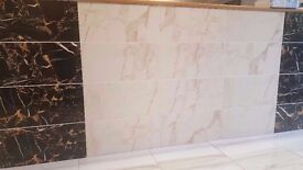 Beautiful Carrera Wall tiles. Available in black/white/cream £13.99 psm