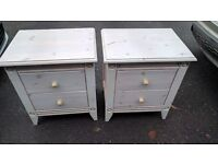 2 shabby chic French style bedside tables £35