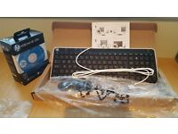 Brand new unused webcam and wired keyboard and mouse