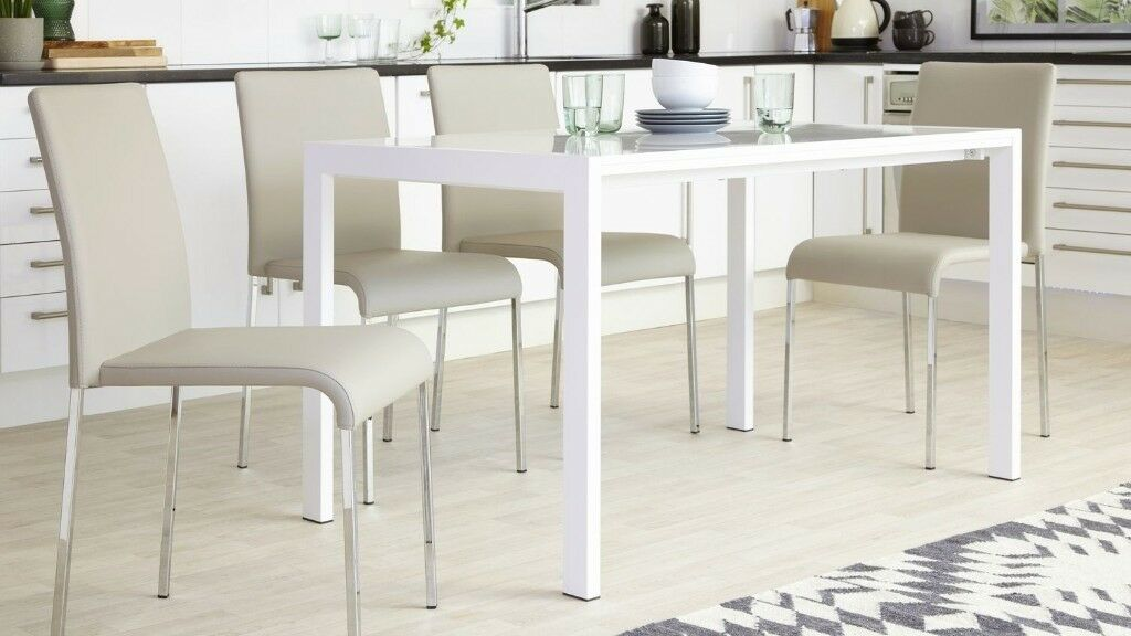 Brand New Danetti Tori Light Oatmeal Modern Stackable Luxury Dining Chair 4 Available