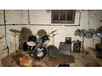 Pearl Export Drum kit & more