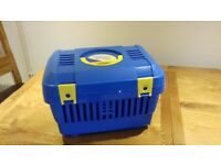 Lightweight plastic cat or small dog carrier