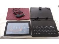"""Kocasso 10.1"""" Tablet as new with keyboard and leather case"""