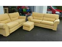 2 x 3 seaters pouffe good quality suite