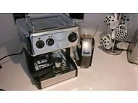 Dualit chrome/black espresso / coffee maker latte and bean grinder