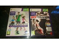 Xbox 360 games UFC trainer and your shape evolved