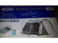 Gelert four man tent with separate living area. Easy to erect.