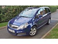 2007 VAUXHALL ZAFIRA 1.9 CDTI DIESEL,7 SEATER,6 SPEED,FULL SERVICE HISTORY,GOOD COND.