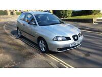 2005 SEAT IBIZA SX 1.2 PETROL 3 DOOR HATCHBACK SILVER 87,000 MILES 12 MONTHS MOT 2 KEYS