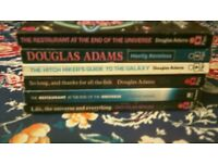 five douglas adams paperback books.