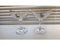 2 Babycham Glasses