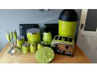 Kettle /toaster/Full kitchen set in lime green £65