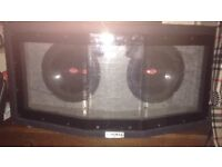 """Double sub-woofer box with 2x 10"""" 1000watt subs in"""