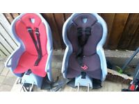 Hamax Kiss child bike seat with fittings (2 available). Good condition. £15 each or £25 for both.