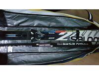 Salomon 24hrs MAX Skis 170cm (2015) WITH Salomon ZIZ bindings and poles and a ski bag